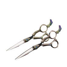 Peacock Handle Japanese Steel Professional hair cutting scissors U411
